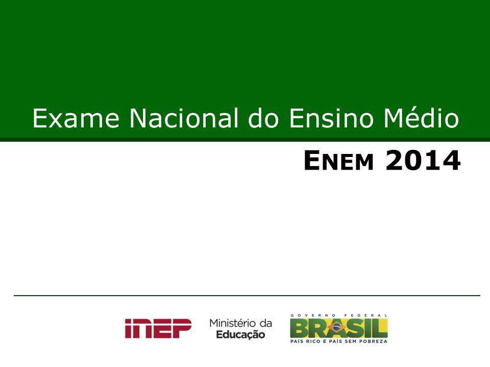 E NEM 2014 Exame Nacional do Ensino Médio