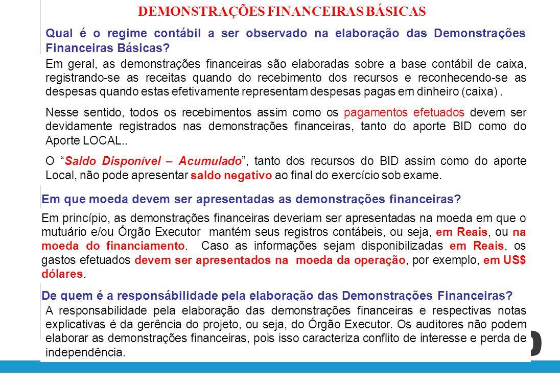 Quem deve assinar as Demonstrações Financeiras Básicas.