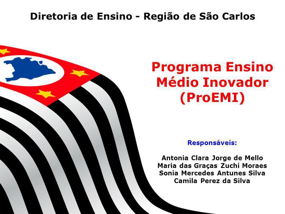 SECRETARIA DA EDUCAÇÃO Coordenadoria de Gestão da Educação Básica Programa Ensino Médio Inovador (ProEMI) Responsáveis: Antonia Clara Jorge de Mello M