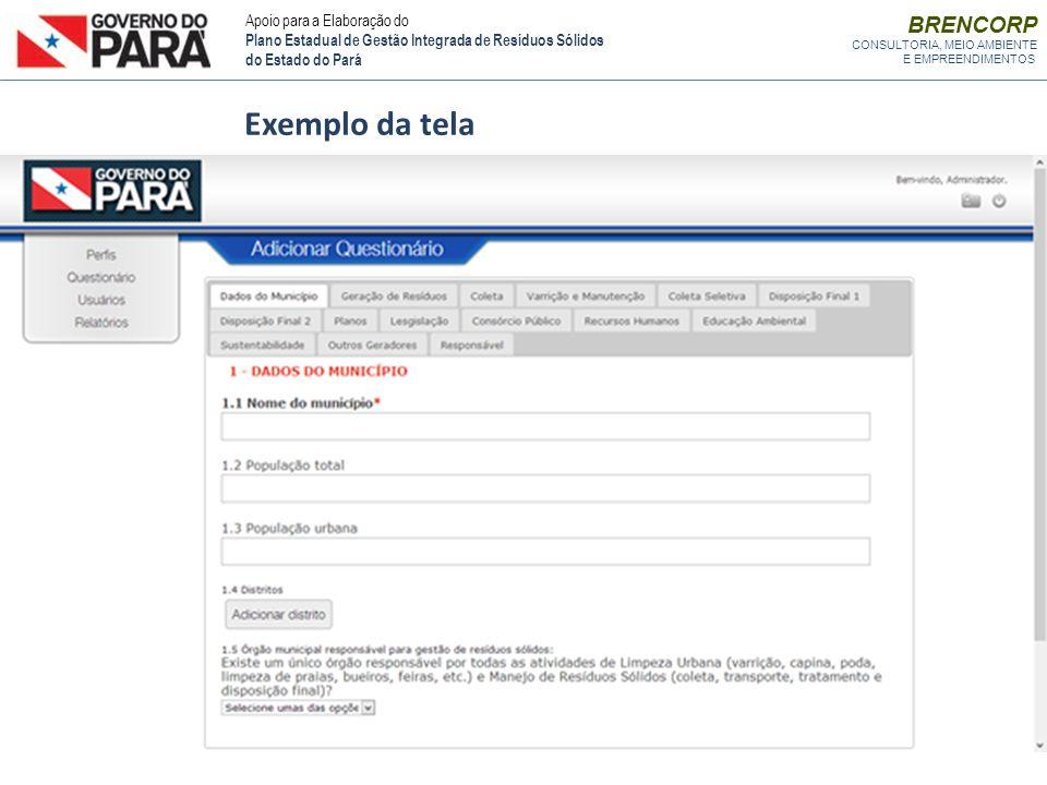 BRENCORP CONSULTORIA, MEIO AMBIENTE E EMPREENDIMENTOS Apoio para a Elaboração do Plano Estadual de Gestão Integrada de Resíduos Sólidos do Estado do P
