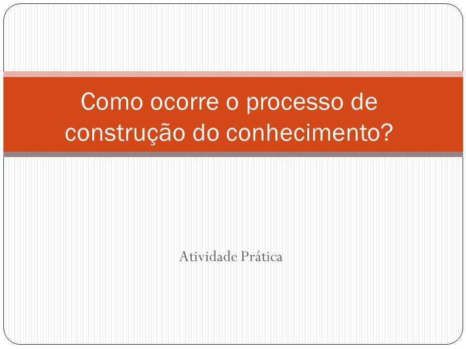 Atividade Prática Como ocorre o processo de construção do conhecimento?