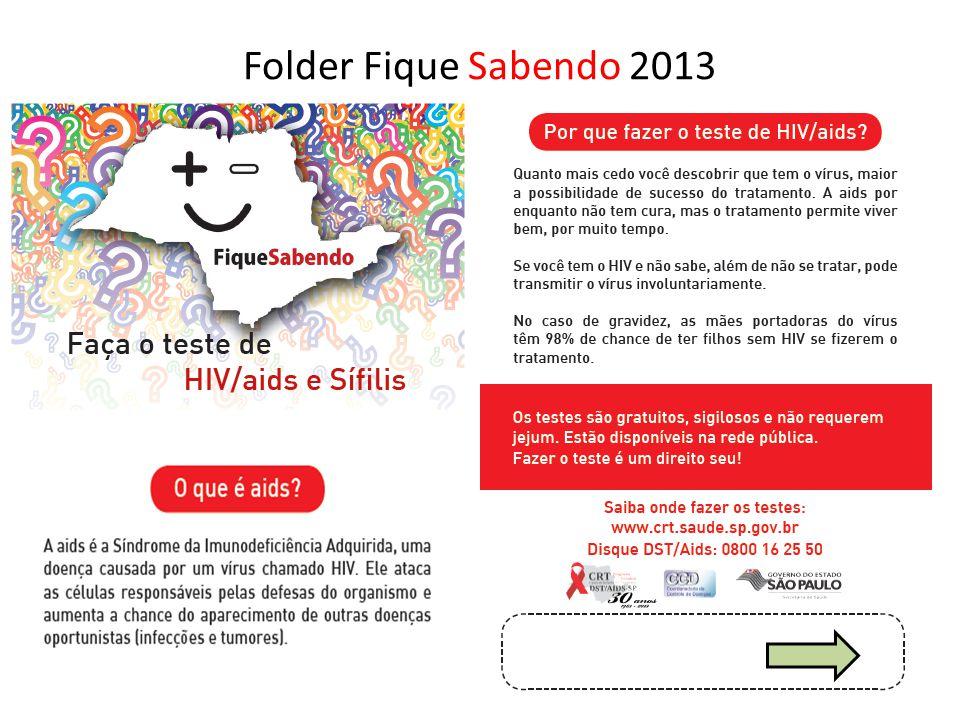 Folder Fique Sabendo 2013