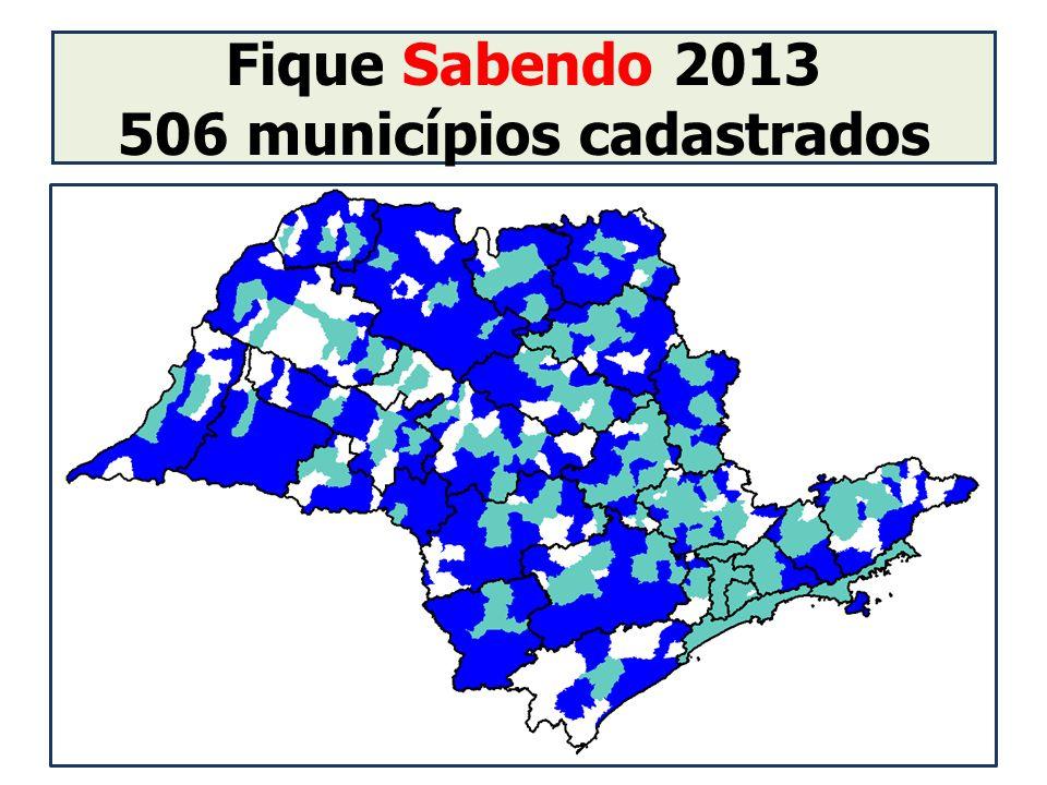 Fique Sabendo 2013 506 municípios cadastrados