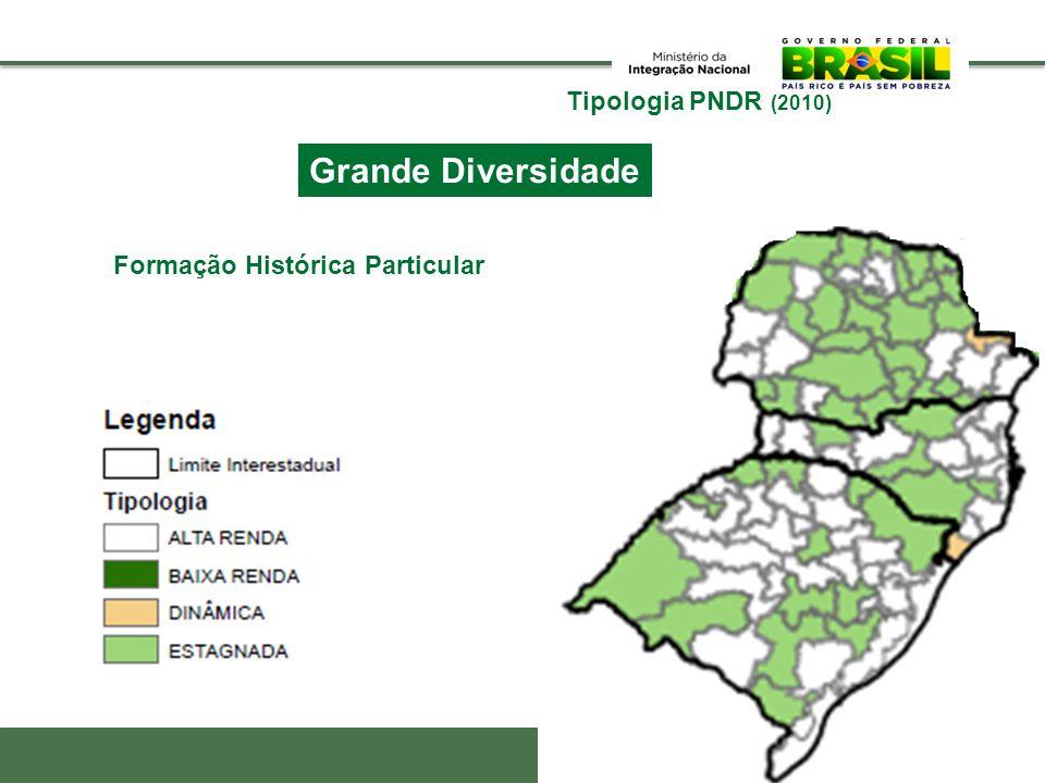 Tipologia PNDR (2010) Grande Diversidade Santa Catarina 11 8 14 15 17 6 3 12 4 20 210 13 18 7 19 9