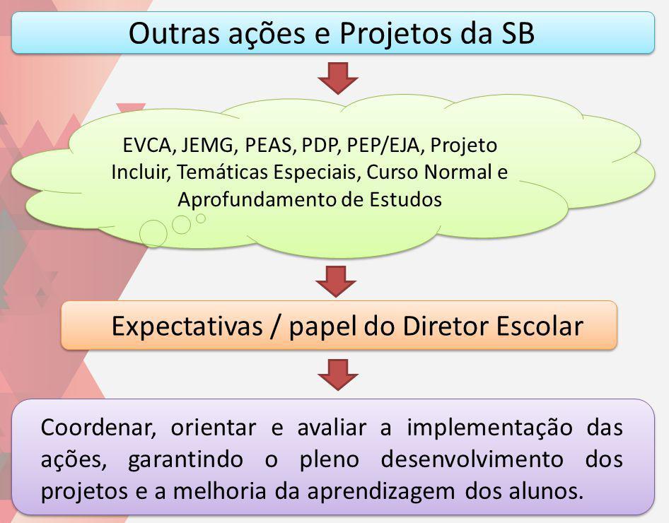 Outras ações e Projetos da SB Coordenar, orientar e avaliar a implementação das ações, garantindo o pleno desenvolvimento dos projetos e a melhoria da