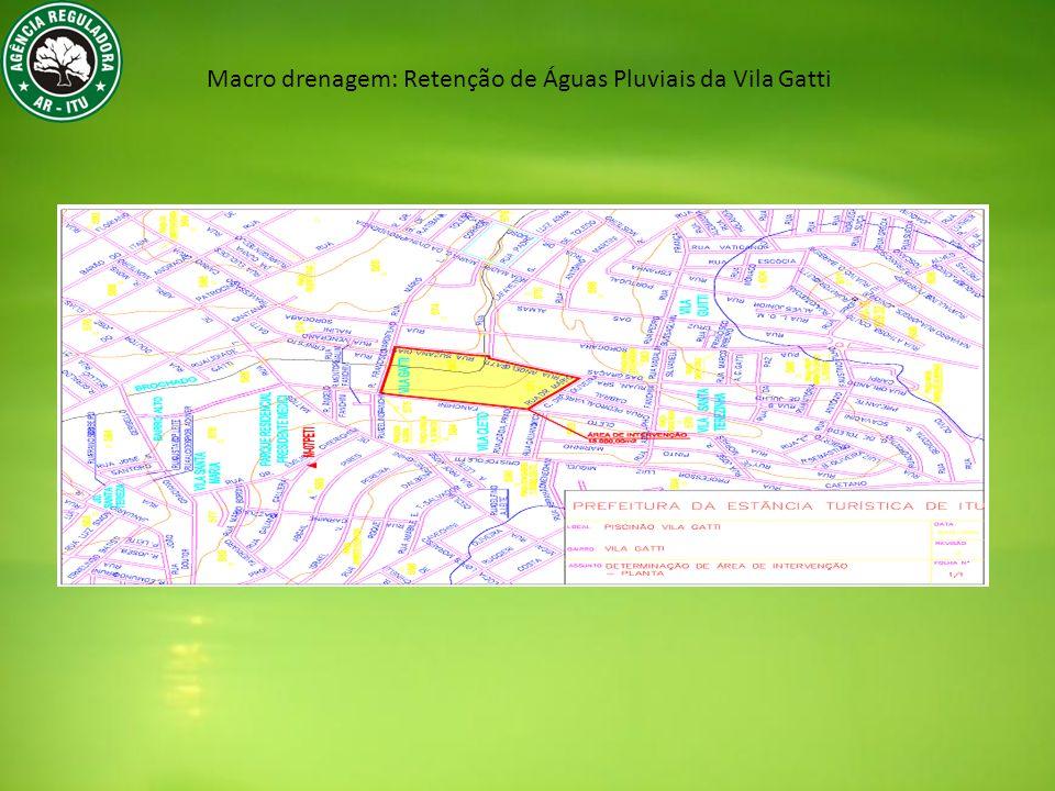Macro drenagem: Retenção de Águas Pluviais da Vila Gatti