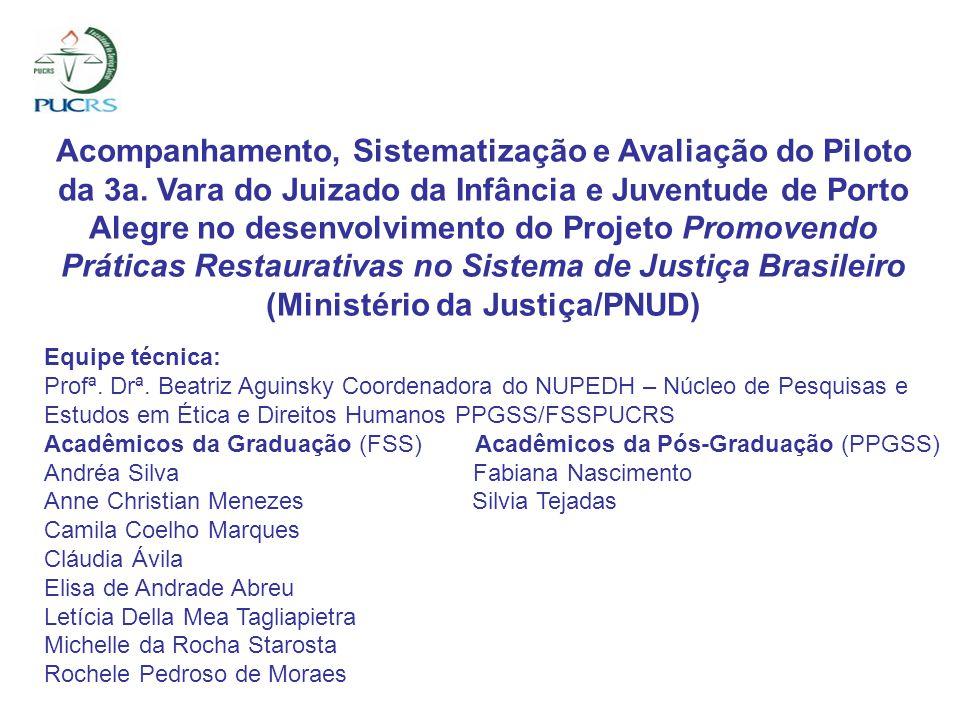 Acompanhamento, Sistematização e Avaliação do Piloto da 3a. Vara do Juizado da Infância e Juventude de Porto Alegre no desenvolvimento do Projeto Prom