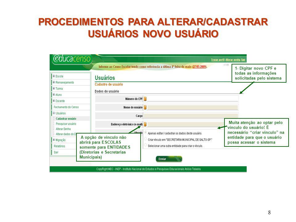 29 SECRETARIA DE ESTADO DA EDUCAÇÃO Centro de Informações Educacionais Praça da República, 53- sala 132 - CEP: 01045-903 Telefone: (011) 3218-2107/08 - Fax: (011) 3256-1167 São Paulo, 11 de setembro de 2009.