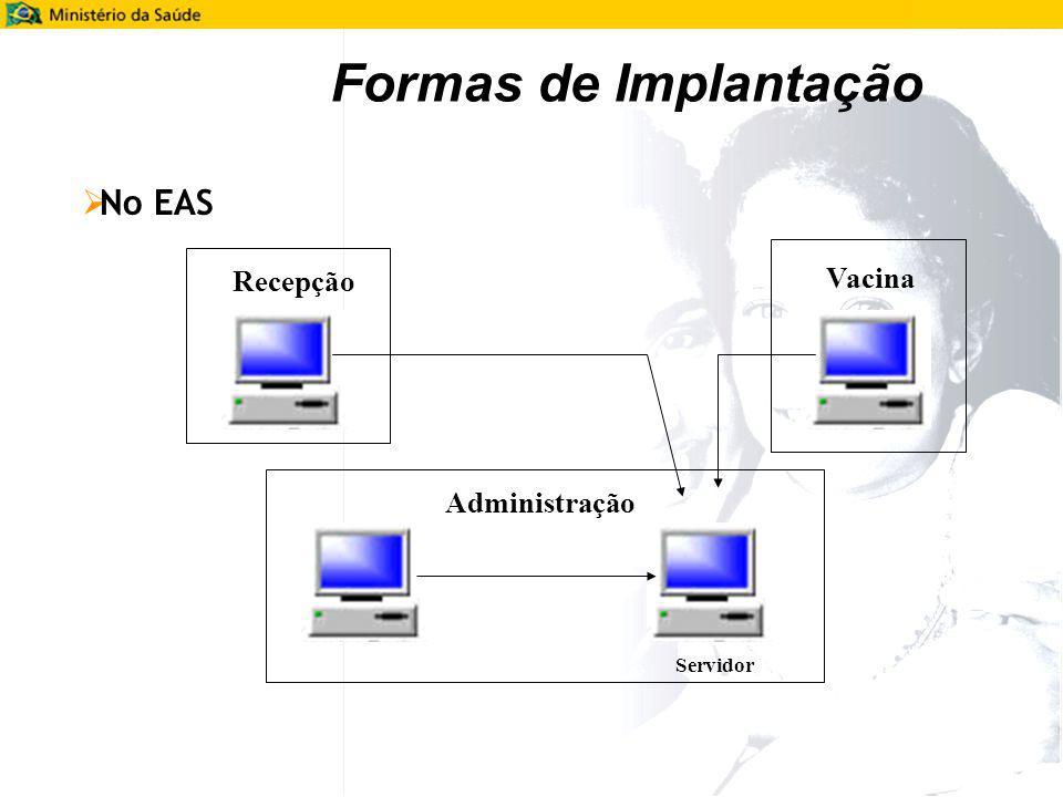 Formas de Implantação No EAS Administração Vacina Recepção Servidor