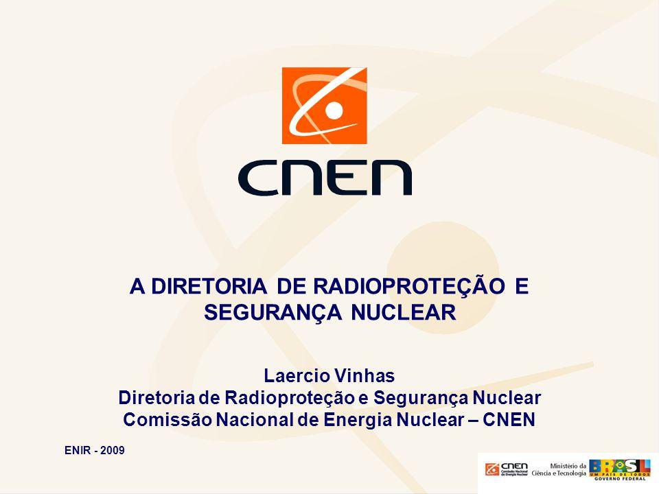 A DIRETORIA DE RADIOPROTEÇÃO E SEGURANÇA NUCLEAR Laercio Vinhas Diretoria de Radioproteção e Segurança Nuclear Comissão Nacional de Energia Nuclear –
