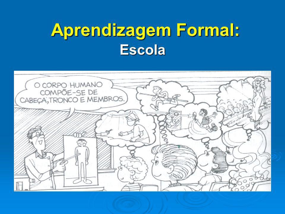 Aprendizagem Formal: Escola Aprendizagem Formal: Escola