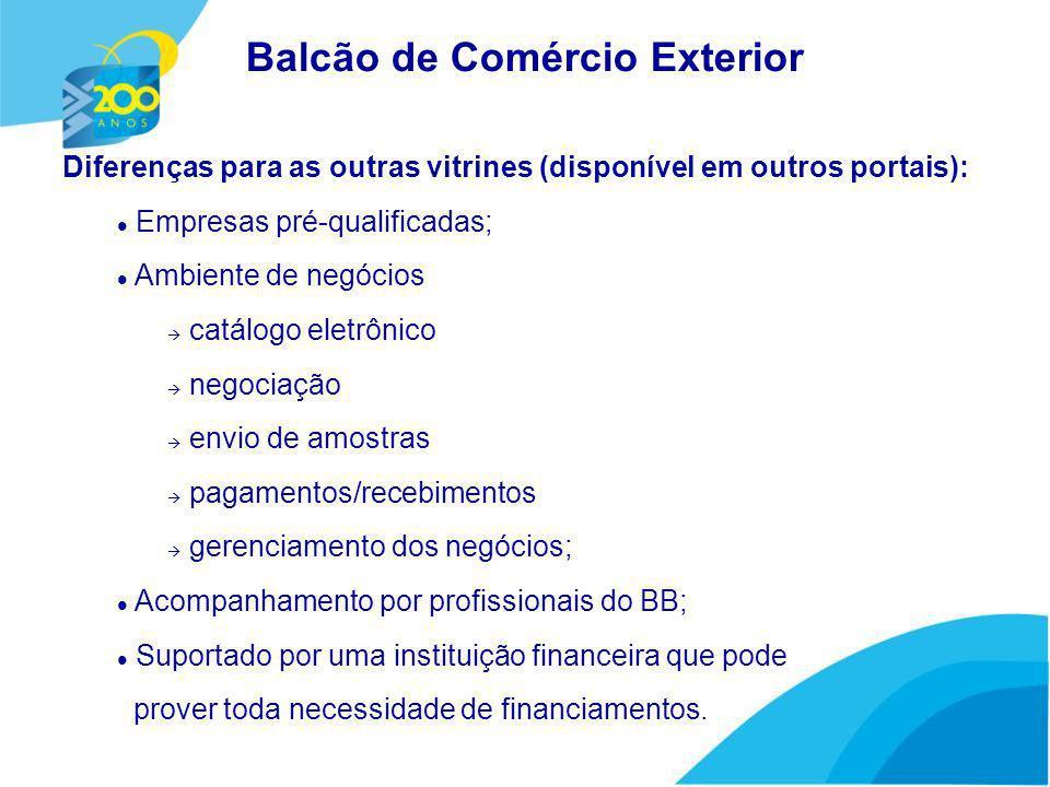 Público-Alvo: Empresas exportadoras ou com potencial para exportação, clientes do BB, com Limite de Crédito aprovado.