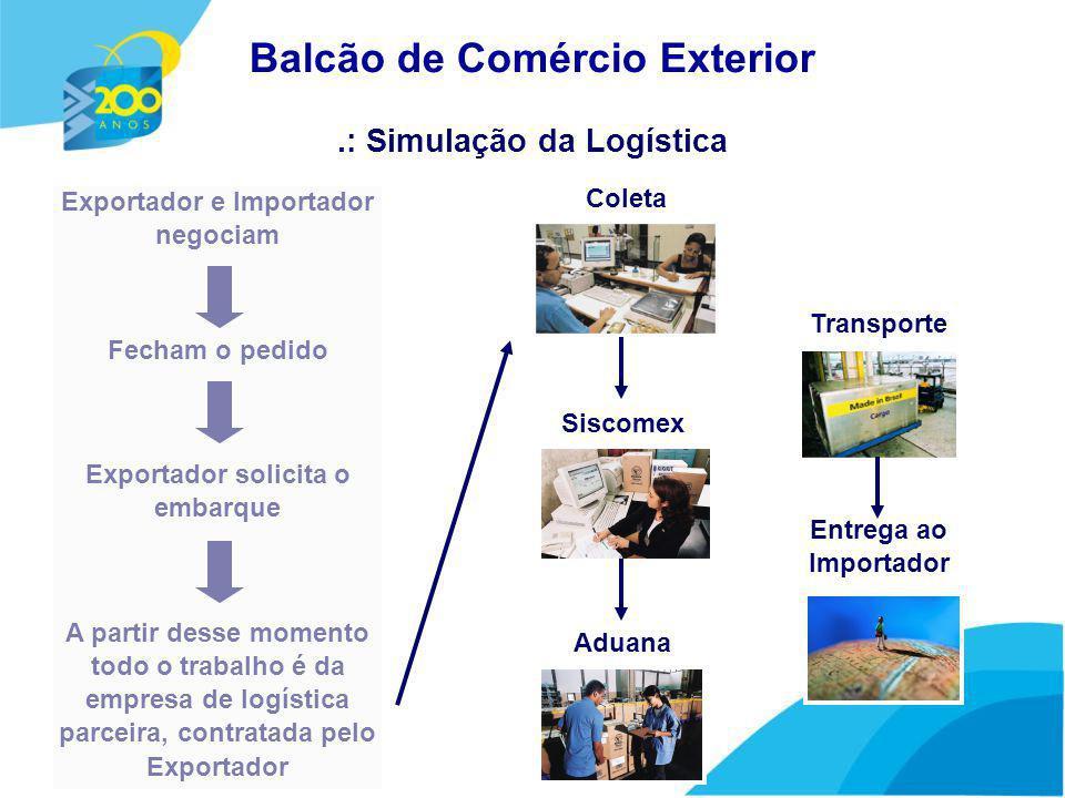 Acesso à área exclusiva de Exportador e Importador Ferramentas de Pesquisa.: Página inicial Balcão de Comércio Exterior