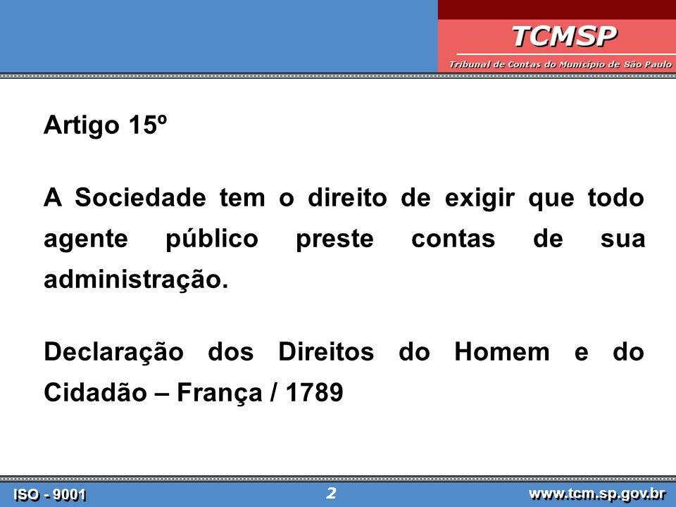ISO - 9001 www.tcm.sp.gov.br 43