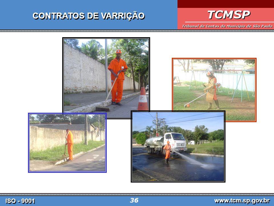 ISO - 9001 www.tcm.sp.gov.br 36 CONTRATOS DE VARRIÇÃO