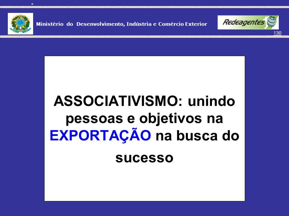 Ministério do Desenvolvimento, Indústria e Comércio Exterior 129 ASSOCIAÇÃO VOLTADA PARA A Exportação
