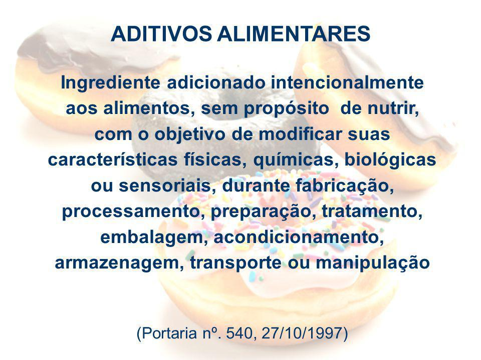 Agência Nacional de Vigilância Sanitária www.anvisa.gov.br Ingrediente adicionado intencionalmente aos alimentos, sem propósito de nutrir, com o objet