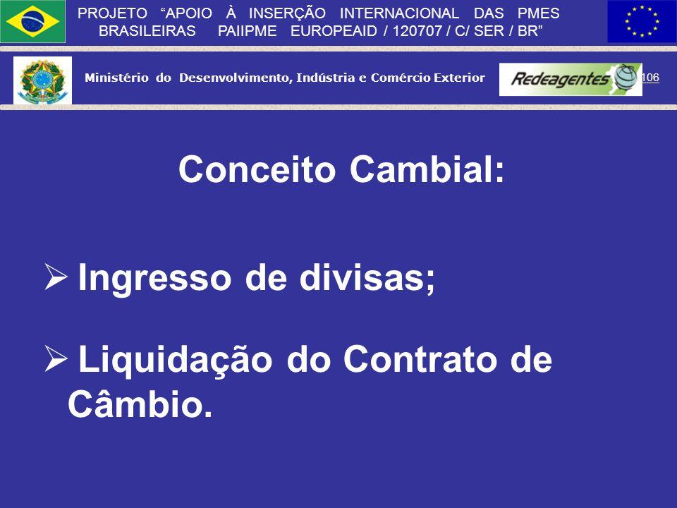Ministério do Desenvolvimento, Indústria e Comércio Exterior 105 PROJETO APOIO À INSERÇÃO INTERNACIONAL DAS PMES BRASILEIRAS PAIIPME EUROPEAID / 12070