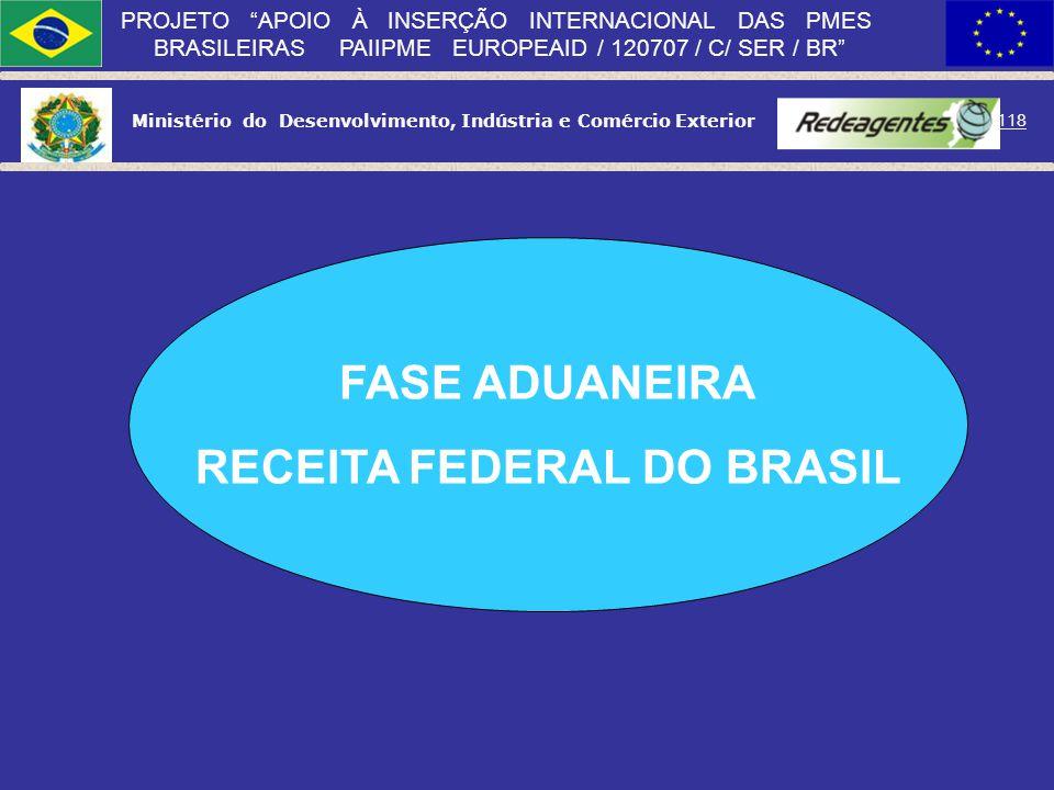 Ministério do Desenvolvimento, Indústria e Comércio Exterior 117 PROJETO APOIO À INSERÇÃO INTERNACIONAL DAS PMES BRASILEIRAS PAIIPME EUROPEAID / 12070