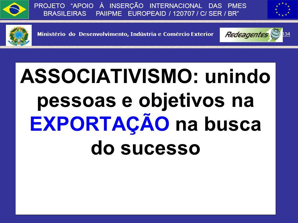Ministério do Desenvolvimento, Indústria e Comércio Exterior 133 PROJETO APOIO À INSERÇÃO INTERNACIONAL DAS PMES BRASILEIRAS PAIIPME EUROPEAID / 12070