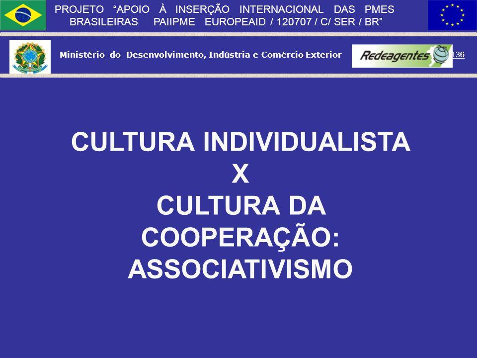 Ministério do Desenvolvimento, Indústria e Comércio Exterior 135 PROJETO APOIO À INSERÇÃO INTERNACIONAL DAS PMES BRASILEIRAS PAIIPME EUROPEAID / 12070