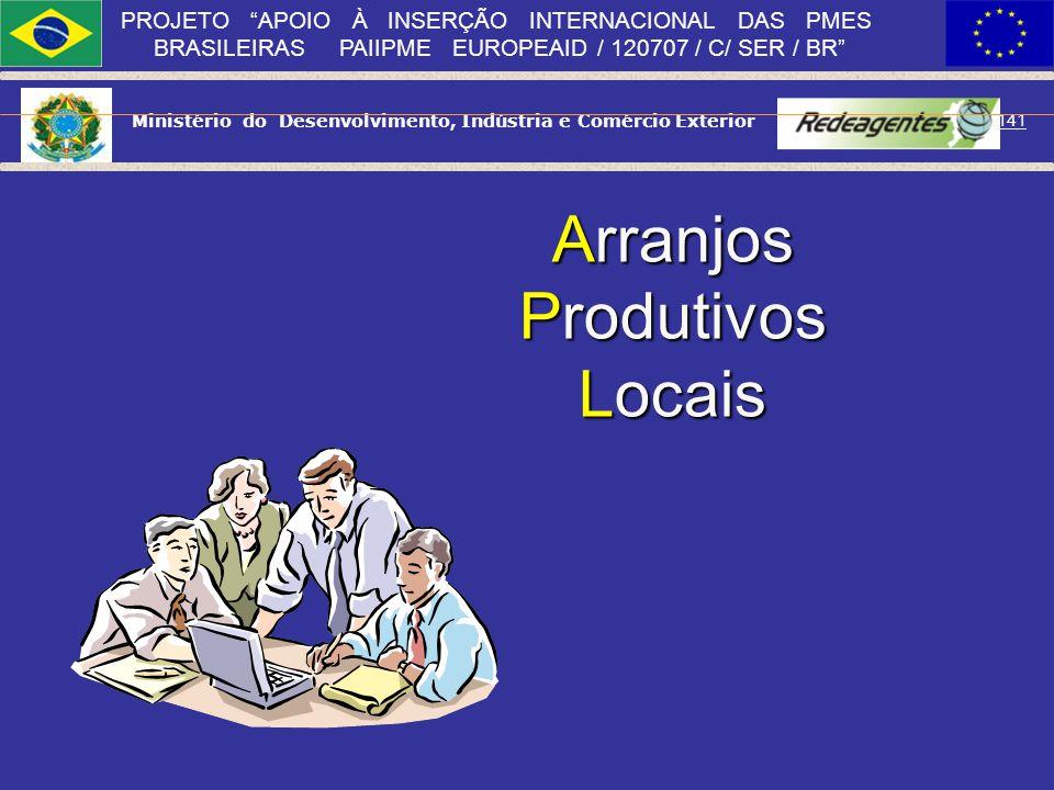 Ministério do Desenvolvimento, Indústria e Comércio Exterior 140 PROJETO APOIO À INSERÇÃO INTERNACIONAL DAS PMES BRASILEIRAS PAIIPME EUROPEAID / 12070