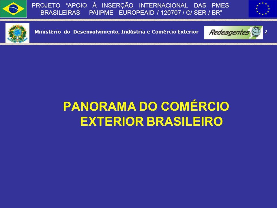 Ministério do Desenvolvimento, Indústria e Comércio Exterior 1 PROJETO APOIO À INSERÇÃO INTERNACIONAL DAS PMES BRASILEIRAS PAIIPME EUROPEAID / 120707