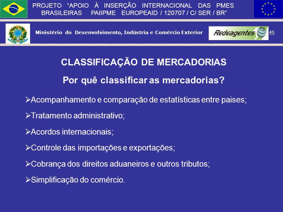 Ministério do Desenvolvimento, Indústria e Comércio Exterior 44 PROJETO APOIO À INSERÇÃO INTERNACIONAL DAS PMES BRASILEIRAS PAIIPME EUROPEAID / 120707