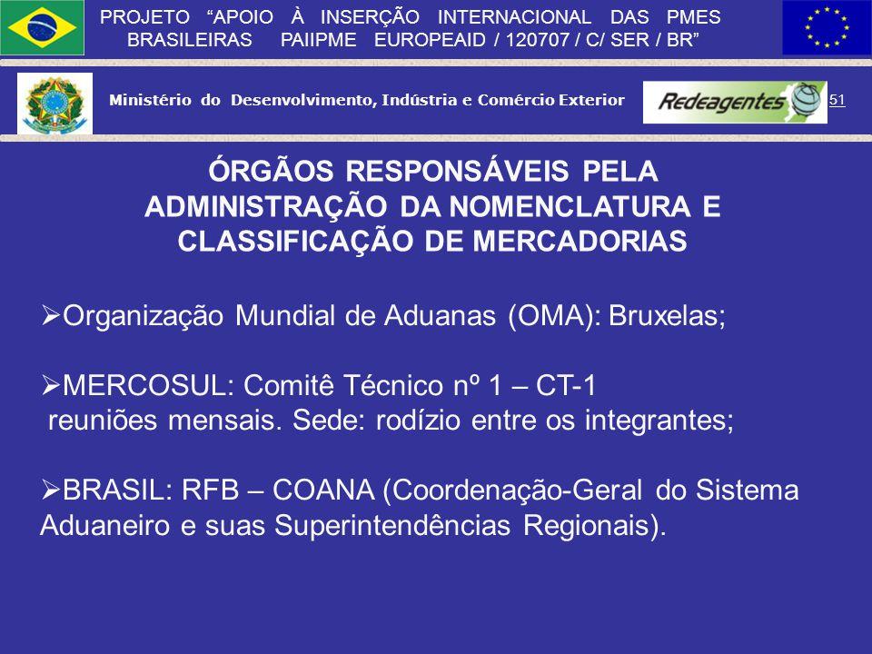 Ministério do Desenvolvimento, Indústria e Comércio Exterior 50 PROJETO APOIO À INSERÇÃO INTERNACIONAL DAS PMES BRASILEIRAS PAIIPME EUROPEAID / 120707