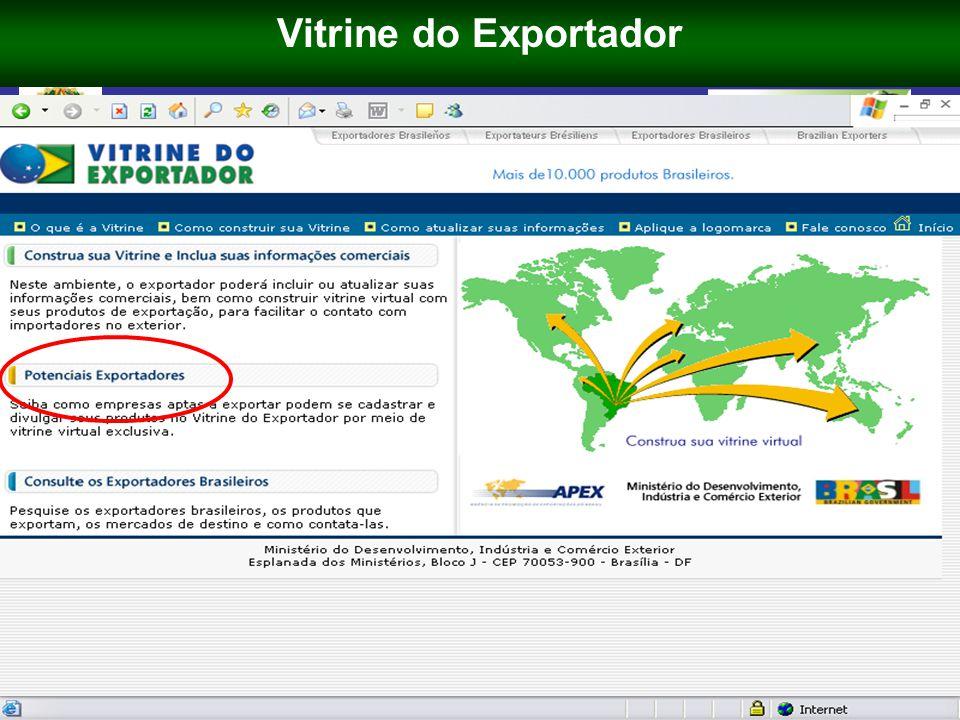 Ministério do Desenvolvimento, Indústria e Comércio Exterior 64 PROJETO APOIO À INSERÇÃO INTERNACIONAL DAS PMES BRASILEIRAS PAIIPME EUROPEAID / 120707