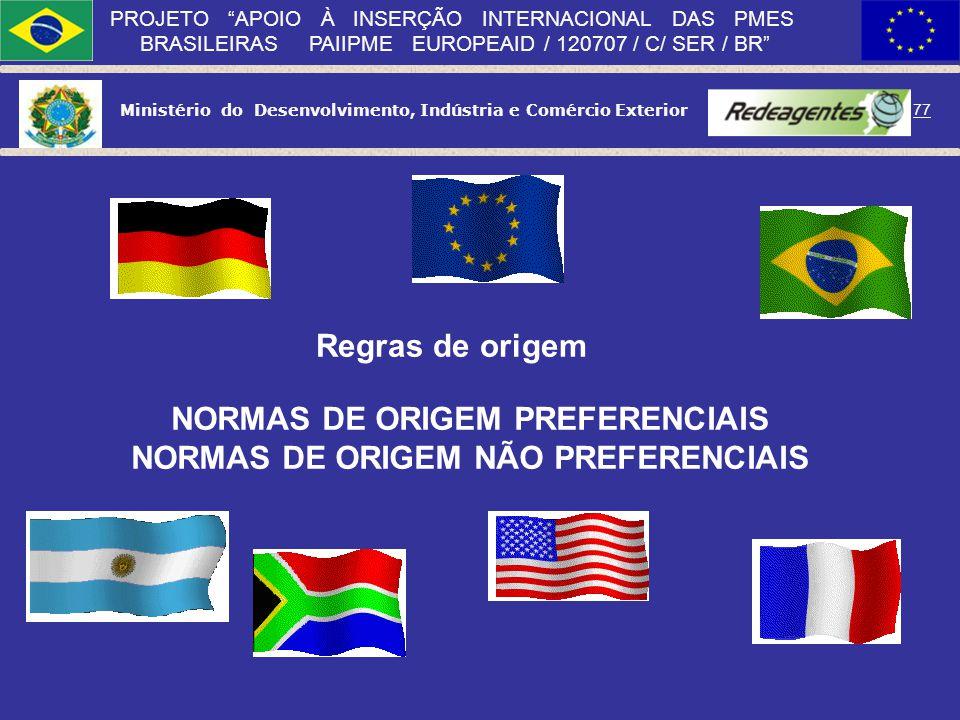 Ministério do Desenvolvimento, Indústria e Comércio Exterior 76 PROJETO APOIO À INSERÇÃO INTERNACIONAL DAS PMES BRASILEIRAS PAIIPME EUROPEAID / 120707