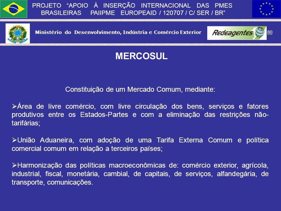 Ministério do Desenvolvimento, Indústria e Comércio Exterior 79 PROJETO APOIO À INSERÇÃO INTERNACIONAL DAS PMES BRASILEIRAS PAIIPME EUROPEAID / 120707