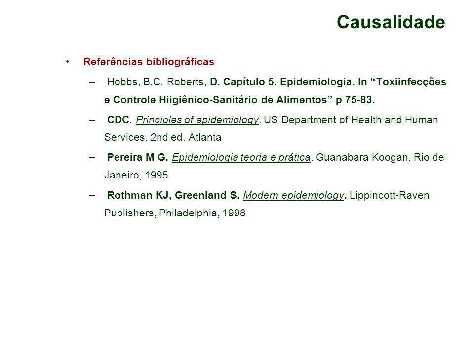 Causalidade Referências bibliográficas – Hobbs, B.C.