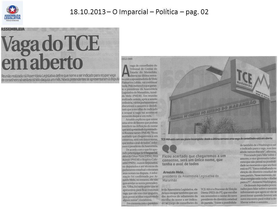 18.10.2013 – O Imparcial – Política – pag. 02