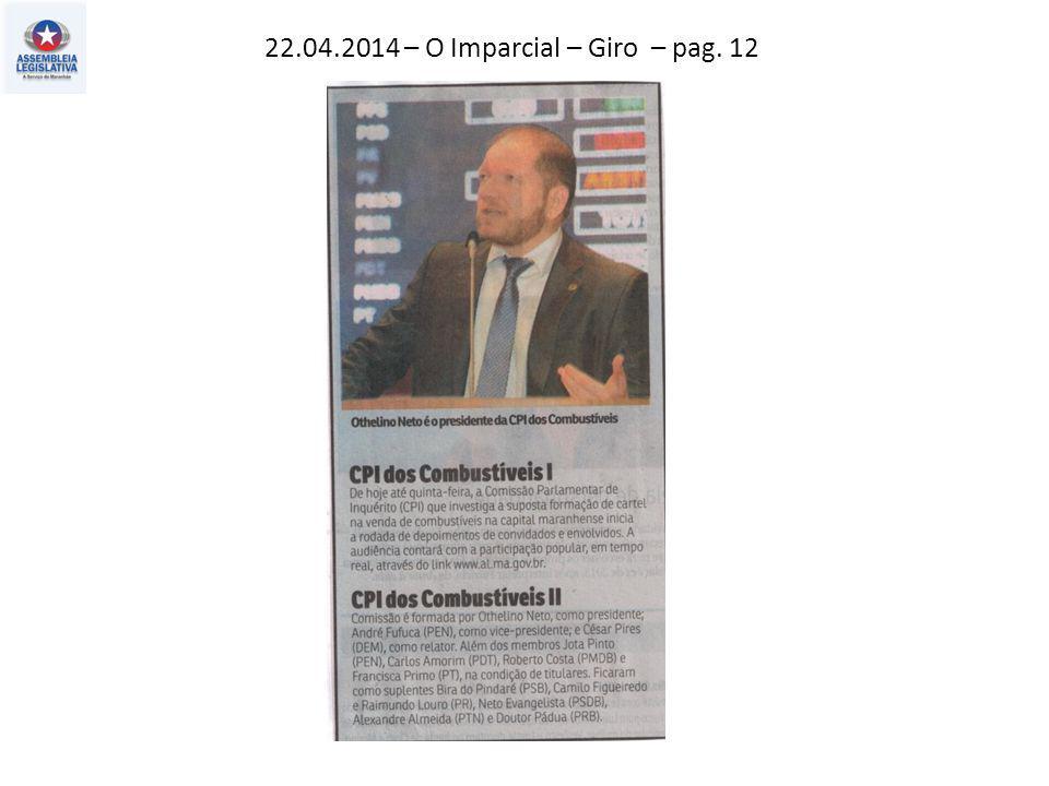 22.04.2014 – O Imparcial – Giro – pag. 12