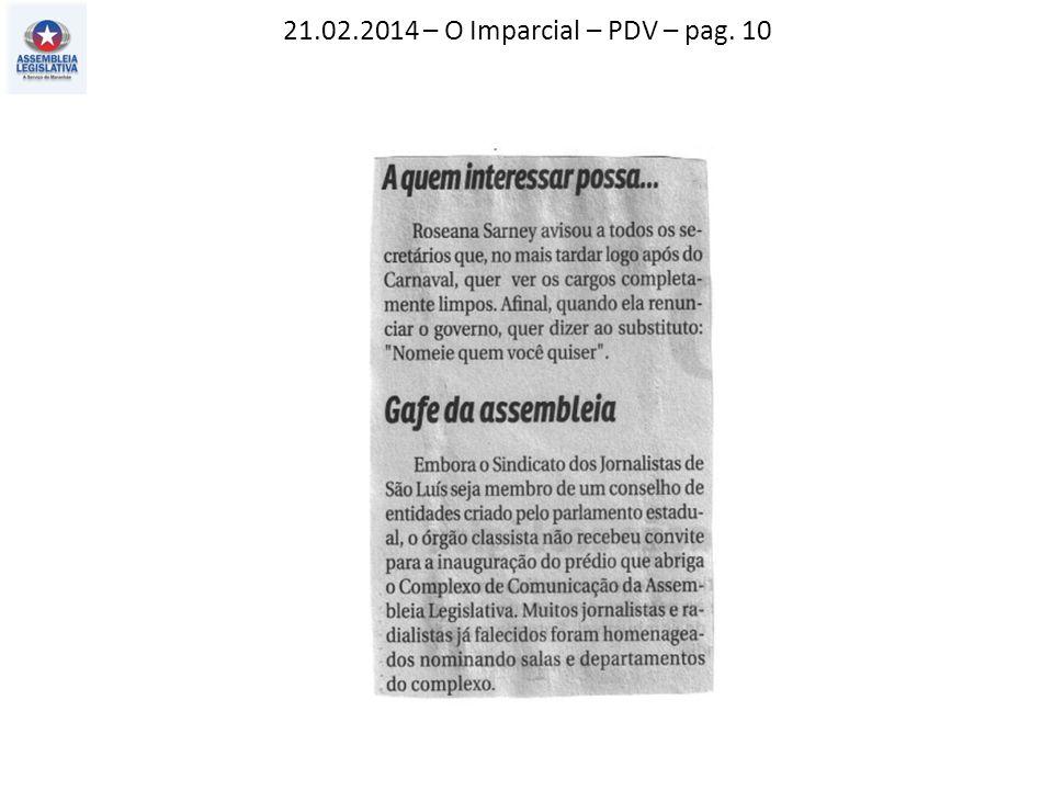21.02.2014 – O Imparcial – PDV – pag. 10