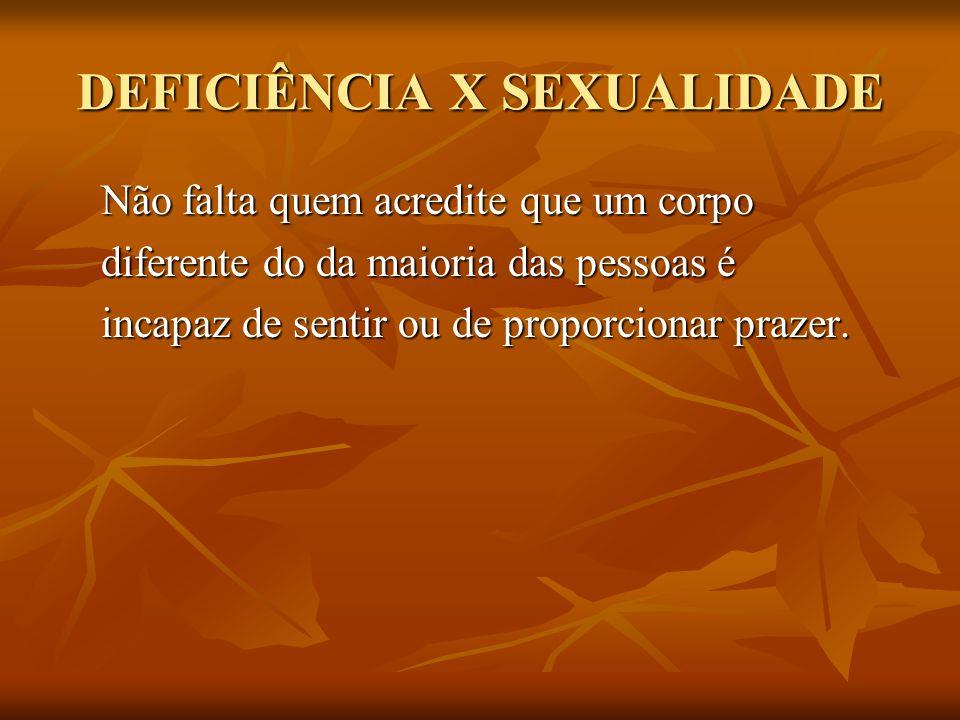 DEFICIÊNCIA X SEXUALIDADE = RISCO A pessoa com deficiência, quando consegue ser correspondida em seu desejo, teme fazer qualquer exigência.