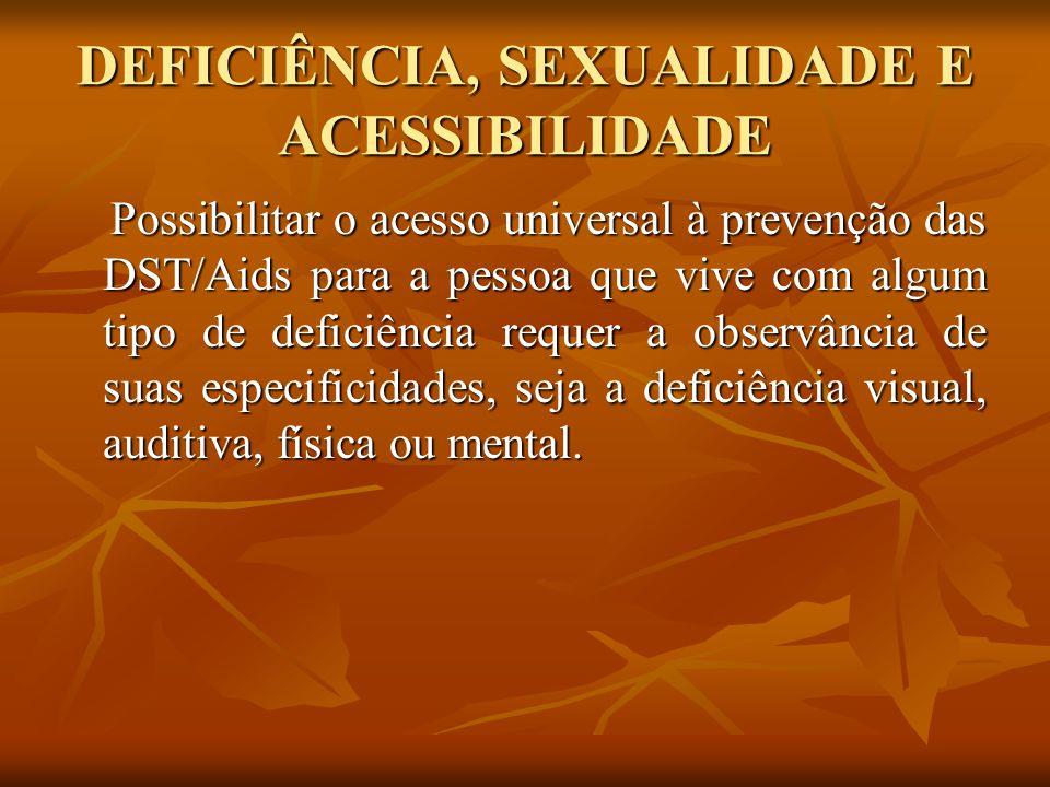 DEFICIÊNCIA, SEXUALIDADE E MÍDIA Nas campanhas publicitárias deve ser incluída a imagem da pessoa com deficiência.