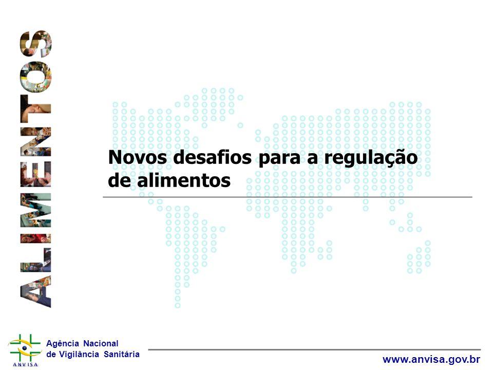 Agência Nacional de Vigilância Sanitária www.anvisa.gov.br Novos desafios para a regulação de alimentos