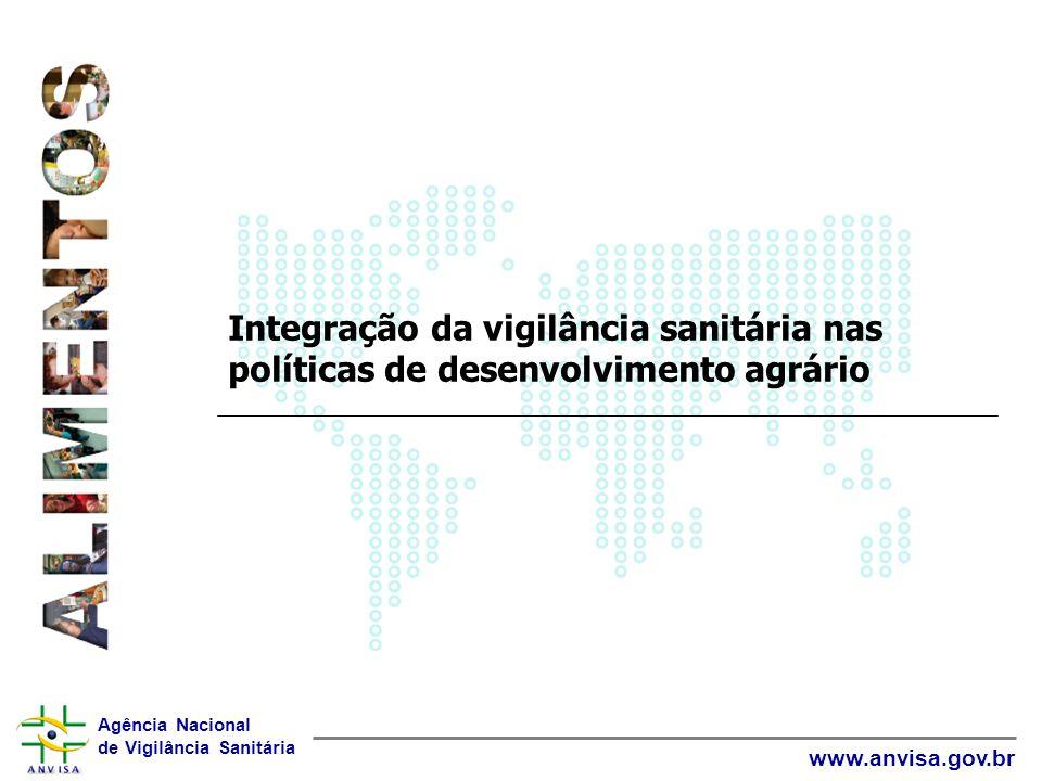 Agência Nacional de Vigilância Sanitária www.anvisa.gov.br Integração da vigilância sanitária nas políticas de desenvolvimento agrário