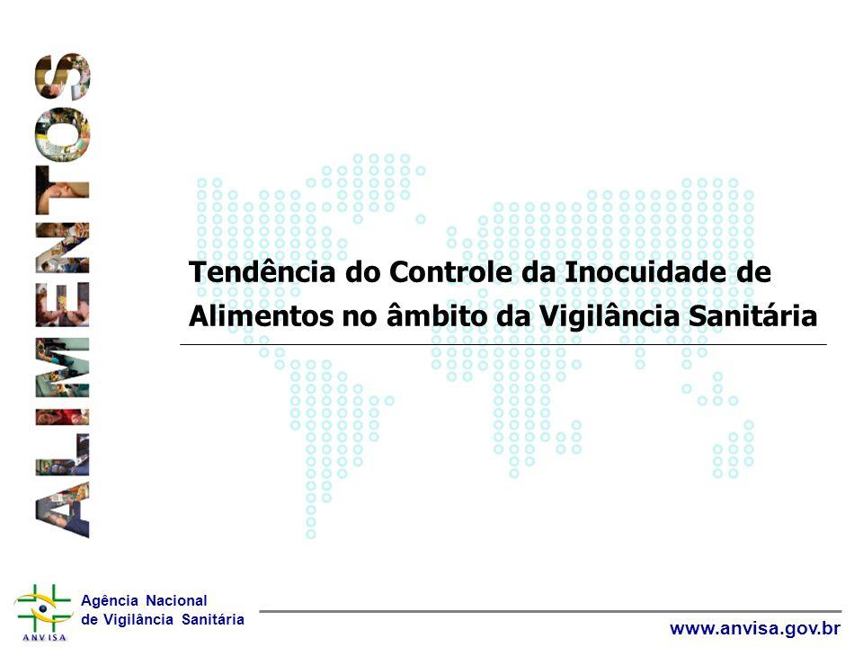 Agência Nacional de Vigilância Sanitária www.anvisa.gov.br Monitoramento e Avaliação de Risco Tendência: 1.