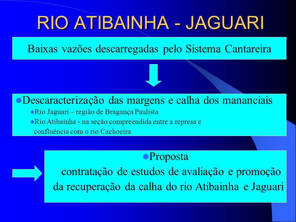 Recomenda-se a complementação da rede telemétrica de vazões do DAEE, nos rios Atibaia, Jaguari e Piracicaba, pela SABESP com a instalação de postos de