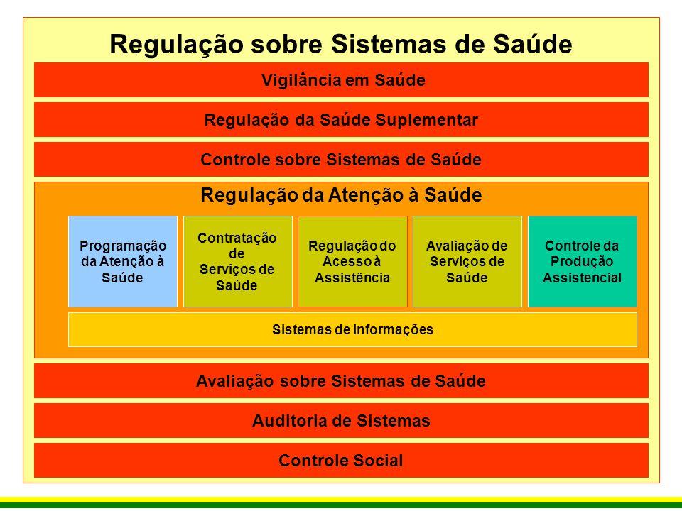 Regulação sobre Sistemas de Saúde Regulação da Atenção à Saúde Vigilância em Saúde Regulação da Saúde Suplementar Controle sobre Sistemas de Saúde Ava