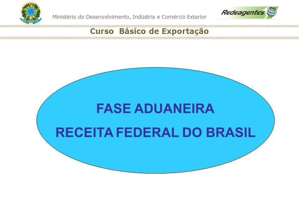 Ministério do Desenvolvimento, Indústria e Comércio Exterior Curso Básico de Exportação FASE ADUANEIRA RECEITA FEDERAL DO BRASIL