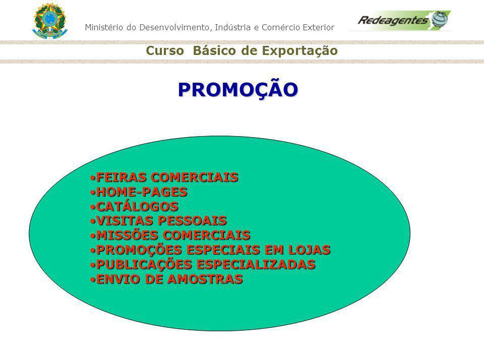Ministério do Desenvolvimento, Indústria e Comércio Exterior Curso Básico de Exportação PROMOÇÃO FEIRAS COMERCIAISFEIRAS COMERCIAIS HOME-PAGESHOME-PAG