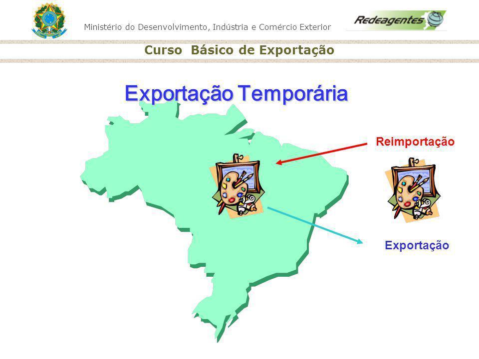 Ministério do Desenvolvimento, Indústria e Comércio Exterior Curso Básico de Exportação Reimportação Exportação Exportação Temporária