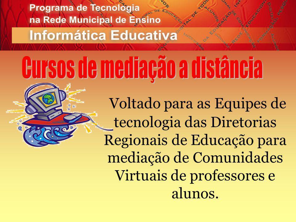 Voltado para as Equipes de tecnologia das Diretorias Regionais de Educação para mediação de Comunidades Virtuais de professores e alunos.