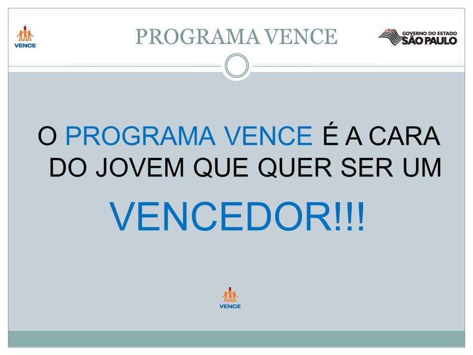 PROGRAMA VENCE O PROGRAMA VENCE É A CARA DO JOVEM QUE QUER SER UM VENCEDOR!!!