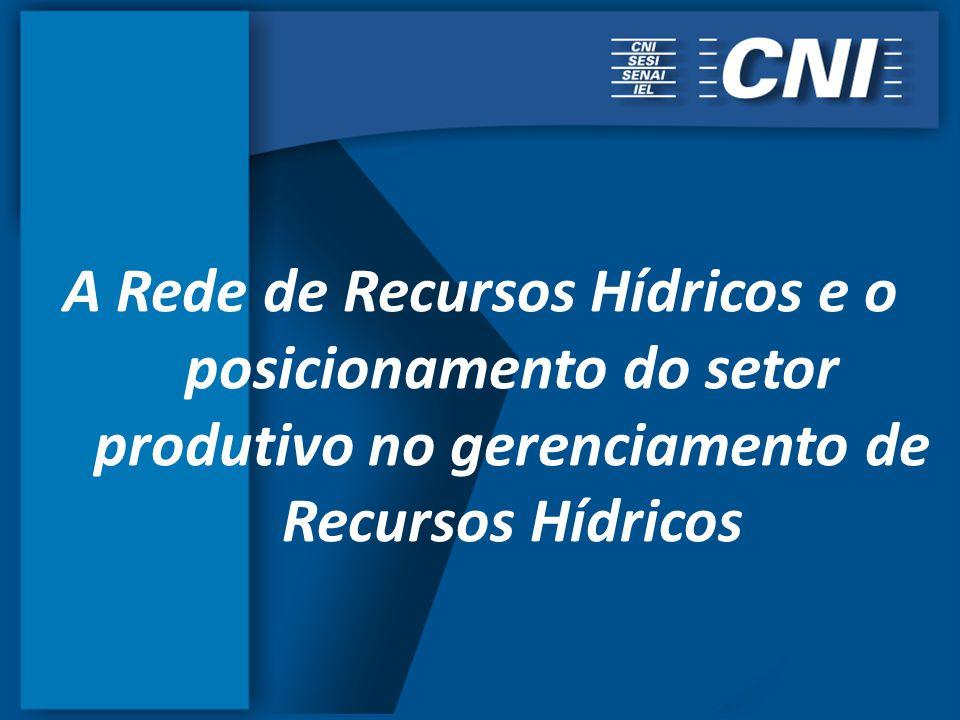 A Rede de Recursos Hídricos e o posicionamento do setor produtivo no gerenciamento de Recursos Hídricos
