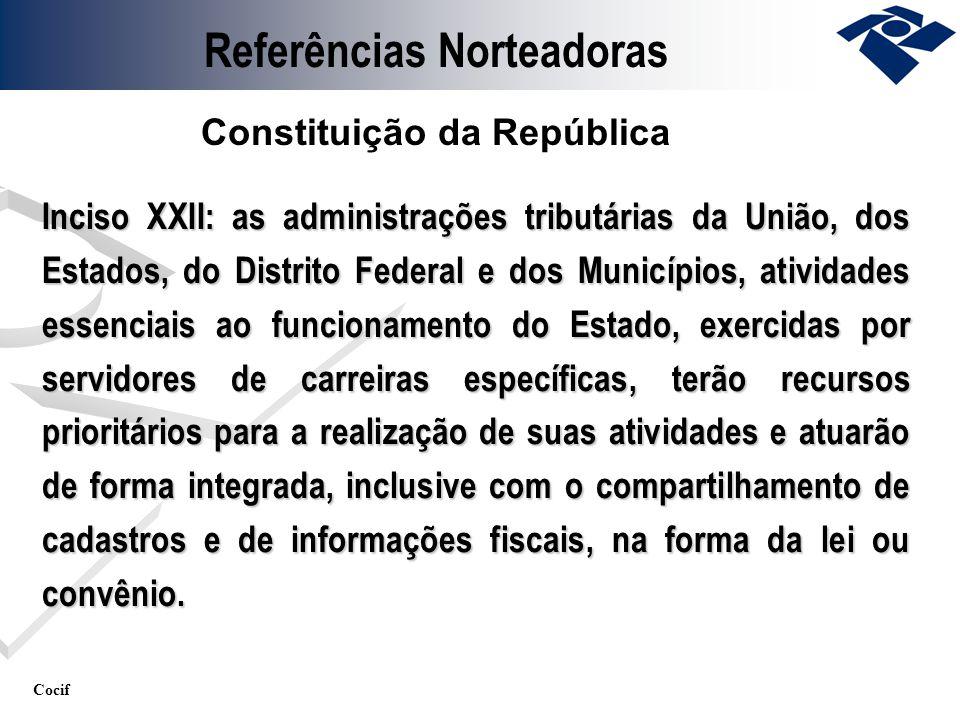 Cocif Inciso XXII: as administrações tributárias da União, dos Estados, do Distrito Federal e dos Municípios, atividades essenciais ao funcionamento d